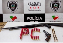 PC apreende armas em Belém do Brejo do Cruz